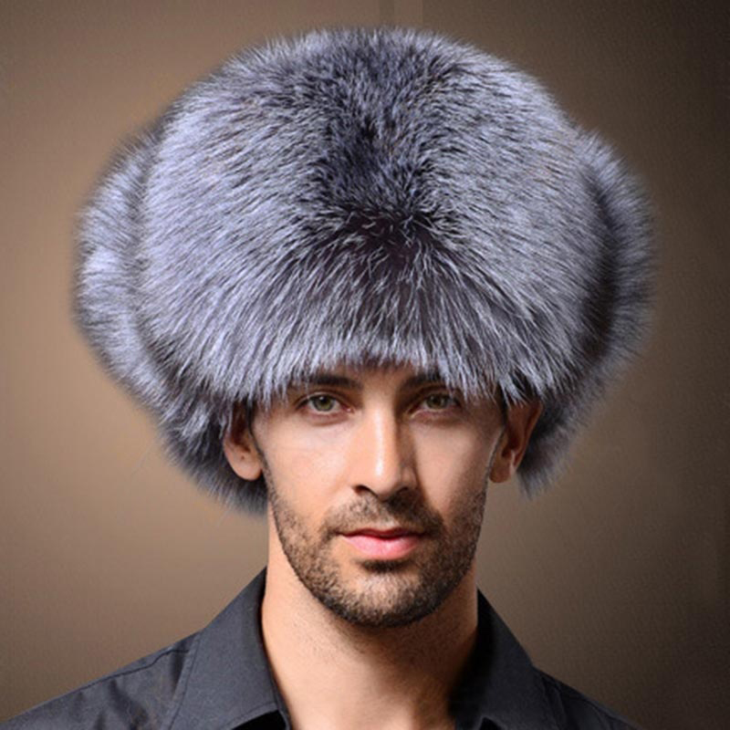 Naiveroo Winter Hats Bomber-Cap Thicken-Hat Ear-Flaps Faux-Fox-Fur Lei Russian Mens  title=