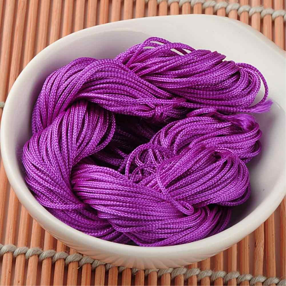 WITUSE bricolage tressé ficelle 20M de Long 1mm diamètre chinois noeud fil cordon macramé fil de ficelle pour collier bracelet'