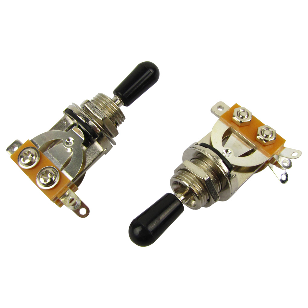 new 2pcs lot electric guitar pickup selector switch 3 way toggle switch nickel plated black. Black Bedroom Furniture Sets. Home Design Ideas