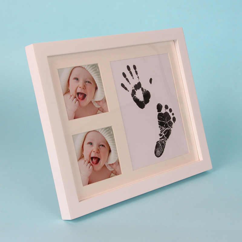Nouveau-né bébé empreinte encre Pad Non-toxique propre Handprint tactile encre Pad facile à utiliser infantile souvenir Mami papa amour heureux