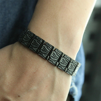 38 New Fashion Full Black Stainless Steel Bracelet For Women Bio Magnet Therapy Health Care Chain Link Mens Jewelry