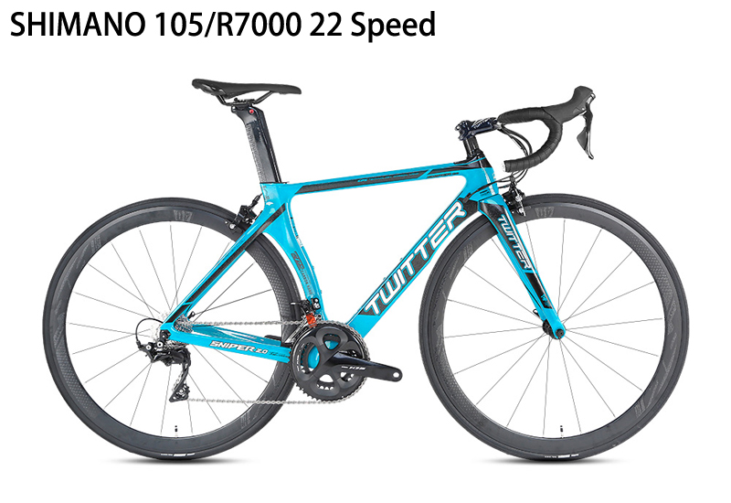 HTB1YoIvVwHqK1RjSZFEq6AGMXXav TWITTER Carbon Road Bicycle 16/22Speed Road Bike For R2000 105/5800 R7000 Components High quality
