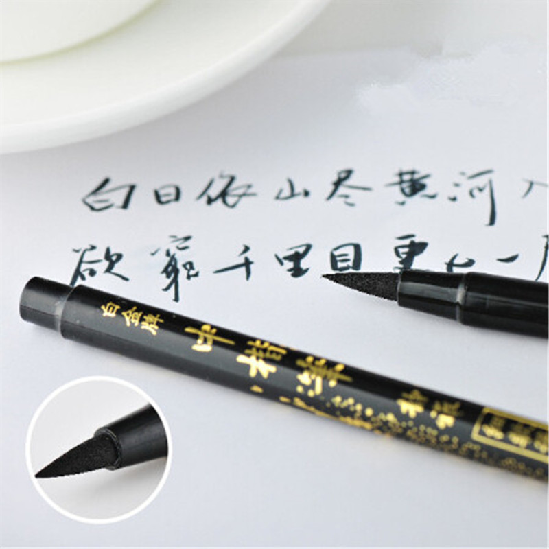 2 In 1 Double Head Calligraphy Brush Soft Brush Felt Tips Pens Signature Manga Drawing Writing Art Marker School Supplies