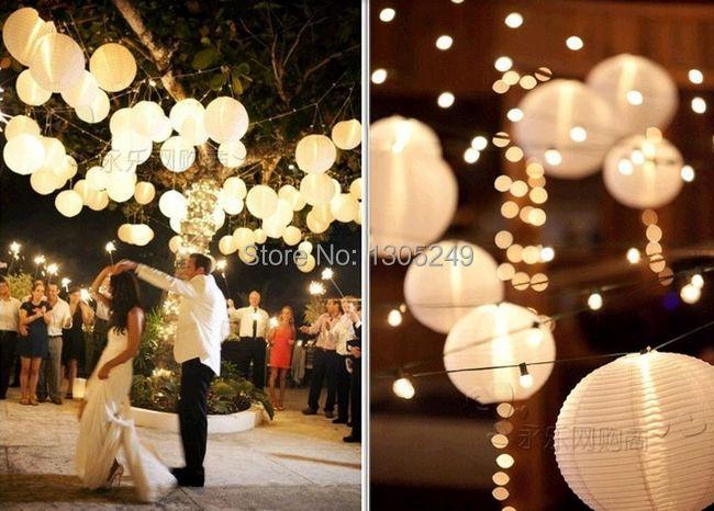 Aliexpresscom Buy 24PCS Mixed Sizes White Paper Lantern Wedding
