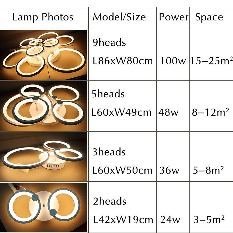 Luminaires Modern Led Chandelier Lampara deco techo Ceiling Mounted Chandelier Lighting White Black Living room Bedroom Fixtures in Chandeliers from Lights Lighting