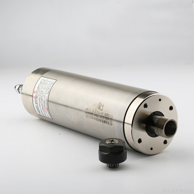 High precision 2 2kw water cooled metal mold milling spindle AC220V D80mm with ceramic bearings for