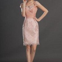 Прекрасный кружевной рукав-крылышко коктейльное платье