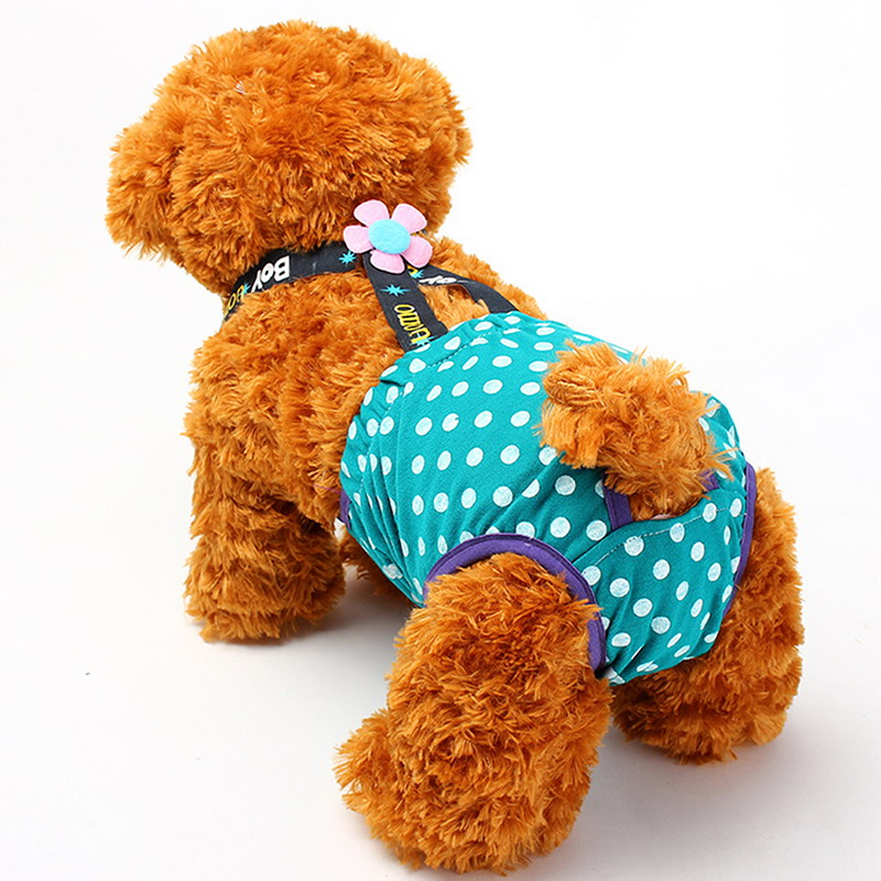 Cartoon Courtesy Paragraph Male Dog Physiological 3Sizes Pants for Pets Physiological Anti-harassment Dogs Diapers