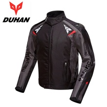 Free shipping 1pcs DUHAN Outdoor Sports Men's Motorcycle Jacket Suit Racing Suits Armor Riding ProtectiveJacket with 5pcs pads