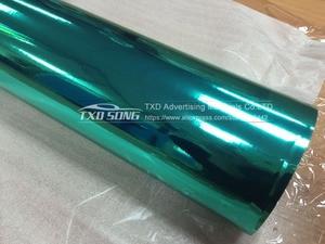 Image 2 - 50CM * 1 M/2 M/3 M/4 M/5 M Rotolo Car styling alta elastico Tiffany blu Chrome Mirror Vinile Wrap Copriletto Rotolo di Pellicola Adesivo Auto
