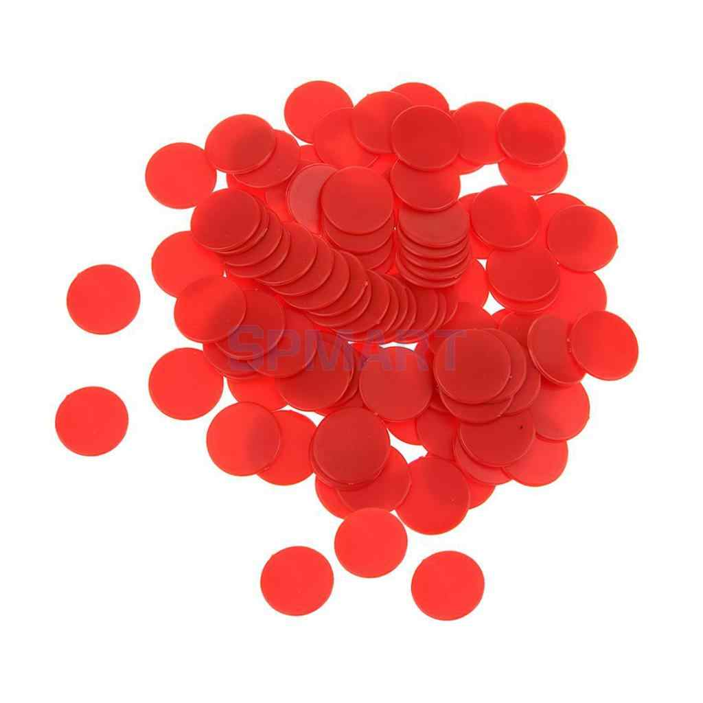 50f688b7da ... MagiDeal 100Pcs/Pack 18mm Opaque Plastic Board Game Counters Tiddly  Winks Numeracy Teaching Aid Math ...