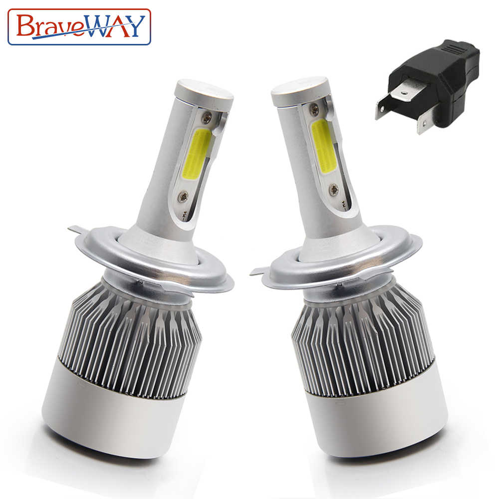 BraveWay H4 Led HeadLight Car HeadLamp Led H7 H11 9005 9006 Bulbs for Motocycle Lada Vesta