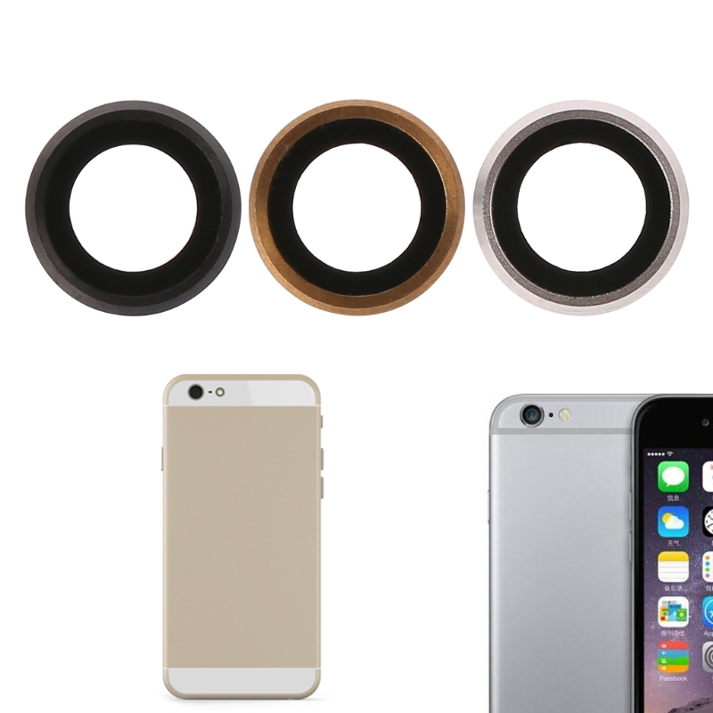 Gold Color Rear Camera Lens Glass Cover With Metal Frame Holder For IPhone 6 Plus 5.5 Inch