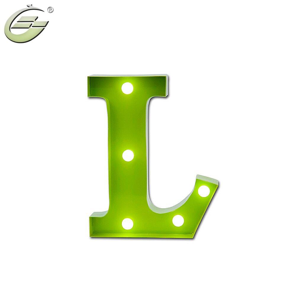 Décor à la maison mur LED lumière, 26 lettres éclairage