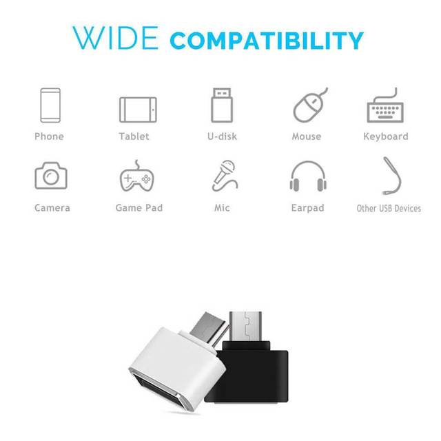 2pc OTG USB Adapter USB to Micro Cable Converter for Pendrives USB Flash Drive To Phone Mouse Keyboard USB Gadget Freeshipping 4
