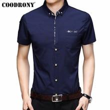 COODRONY kısa kollu erkek cepli gömlek 2019 yaz serin gömlek erkekler marka giyim iş rahat gömlek Chemise Homme S96035