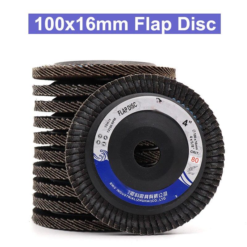10Pcs 100MM 4 inch Nylon Fiber Flap Disc Polishing Buffing Wheel Grit 120 240
