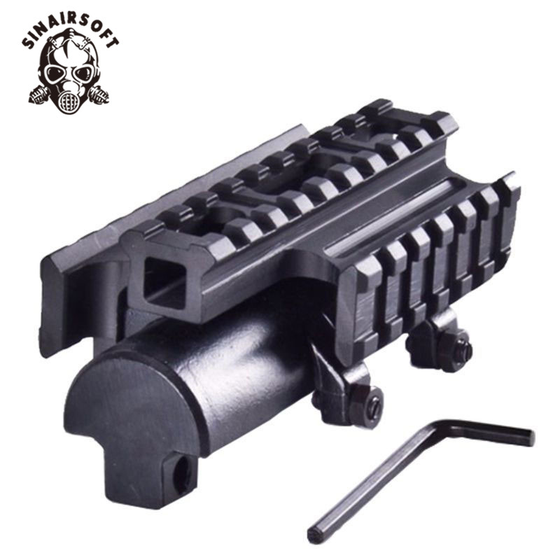 SINAIRSOFT New Gen SKS Tri-Rail Tactical See-thru Receiver Cover Scope Mount MNT-T640TR Hunting Paintball Accessories