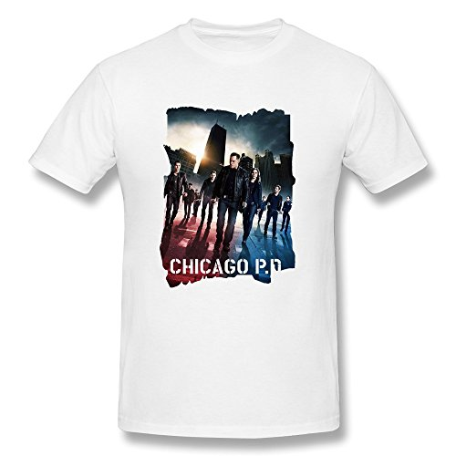 Men's Graphic Tshirts - Chicago Pd Poster Black