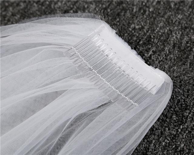 NZUK cheap Real Photos 3M or 2M White/Ivory Wedding Veil One-layer long Bridal Veil Head Veil Wedding Accessories Hot Sell 5