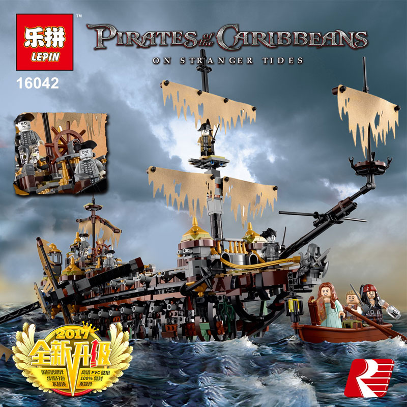 Lepine 2344Pcs New Pirate Ship Series Set Children Educational Building Blocks Bricks Toys Model Compatible 71042 MOC Brick Toy new lepin 16042 pirate ship series building blocks the slient mary set children educational bricks toys model gift with 71042