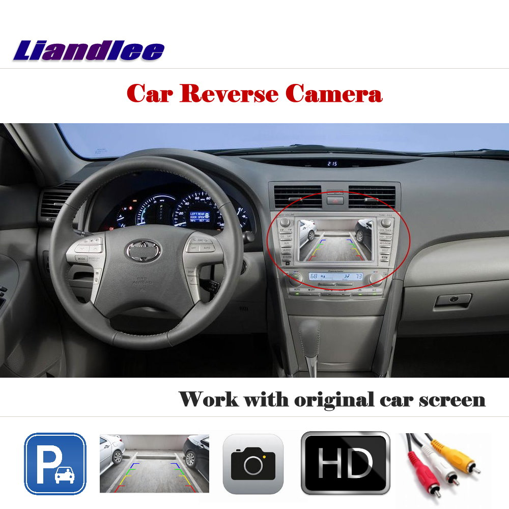 Liandlee Auto Reverse Parking Camera For Toyota Camry XV40 2006 2011 Rear Rearview Camera Back Work