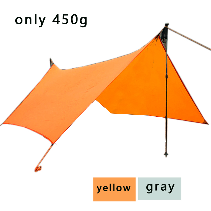 only 450g 20D silicone nylon Rain Fly Tent Tarp Shelter Camping Shelter Rainfly Sun Shelters and Sunshade for Beach Picnic 4 1 5m sun shelter sunshade camouflage tent outdoor waterproof awning sun shelter sunshade camping mat for picnic t15 0 5