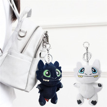 7 18cm mini Movie How to Train Your Dragon Night Fury Toothless soft toy key chain bag charms stuffed plush toys children gift