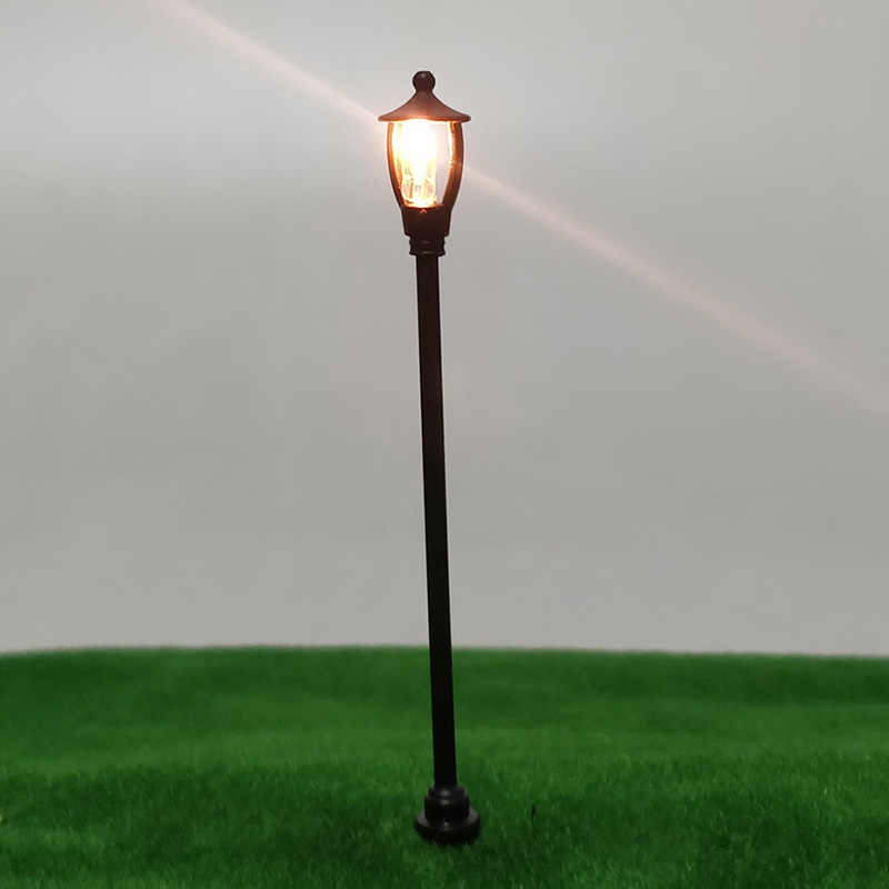 10pcs Mini Ho Scale LEDs Lamp Post Street Lights For Train Railway Railroad  City Series Model Toys Layout DIY Kits Accessories