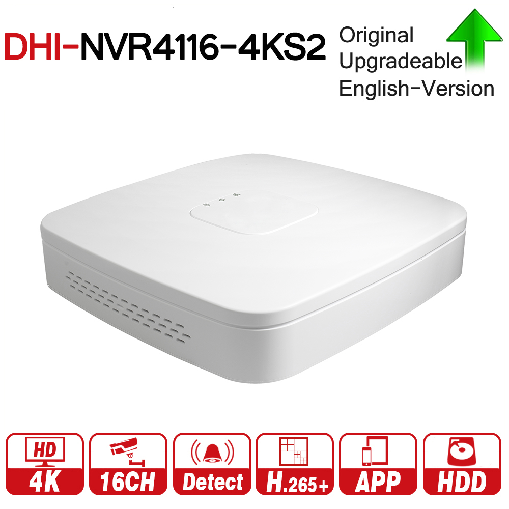 DH NVR4116-4KS2 with logo original 16 Channel Smart 1U 4K&H.265 Lite Network Video Recorder 4K NVR For Profession Security Kits english version with logo wifi nvr 8ch 4k nvr2108hs w 4ks2 h 265 wireless network video recorder