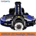 4000LM Farol CREE T6 LED Head Lamp Farol Linterna Lanterna Lanternas de LED Bike Pesca Tocha para 18650