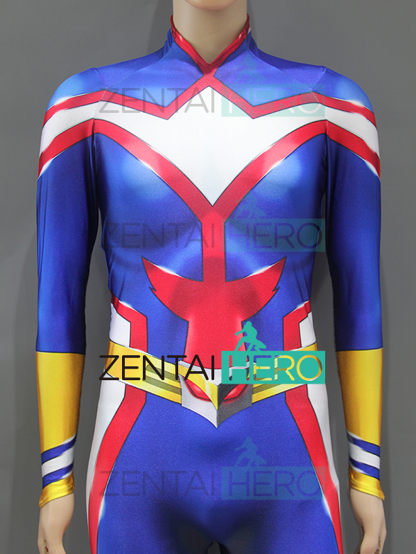 3D Printed My Hero Academia Female Shade All Might Superhero Costume Cosplay Zentai Catsuit Halloween Costume Bodysuit Only Suit