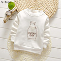 Boys Girls Cotton Padded Hoodies Baby Kids Long Sleeve Plus Velet T Shirt Toddler Winter Warm Fleece Children Sweatshirt Hoody