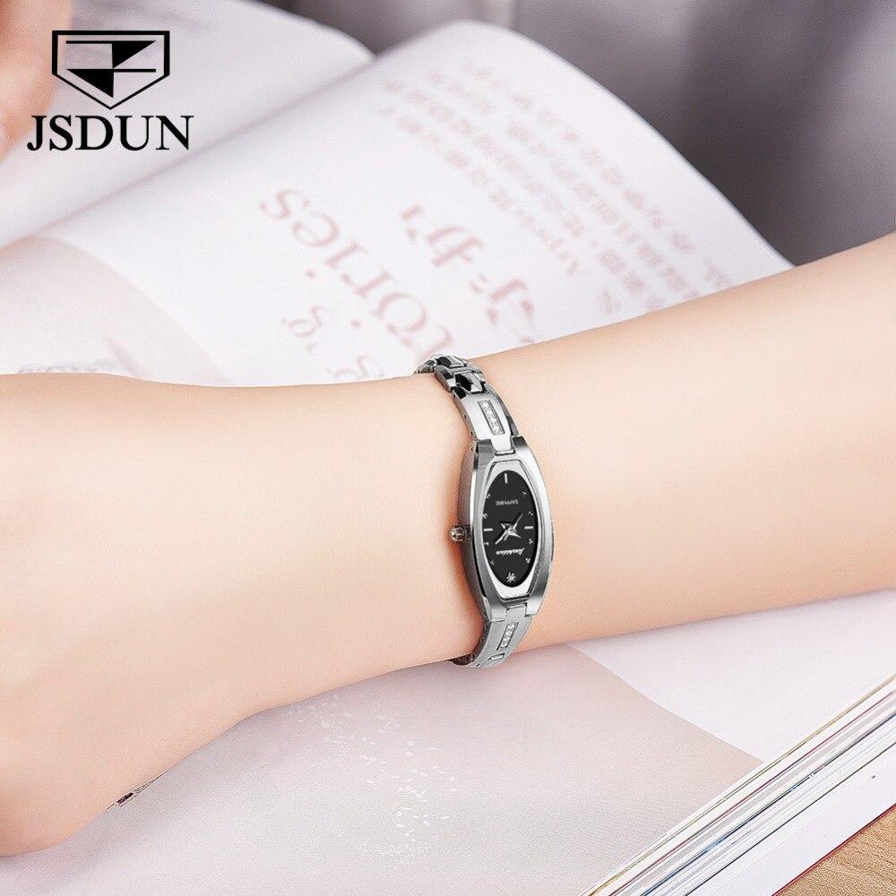 JSDUN женские часы женские модные часы 2019 Geneva дизайнерские женские часы люксовый бренд бриллиантовые кварцевые наручные часы женские - 4