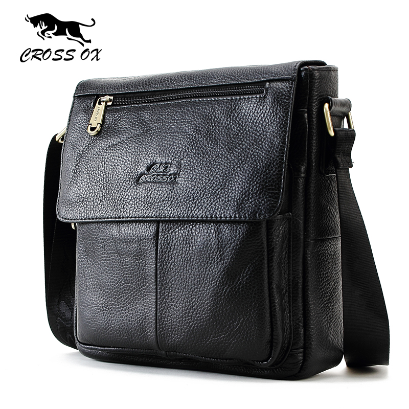 CROSS OX New Fashion Cowhide Man Messenger Bags Genuine Leather Male Cross Body Bag Casual Men Commercial Briefcase Bag SL232M|bag assembly|bag travelbag promotion | АлиЭкспресс