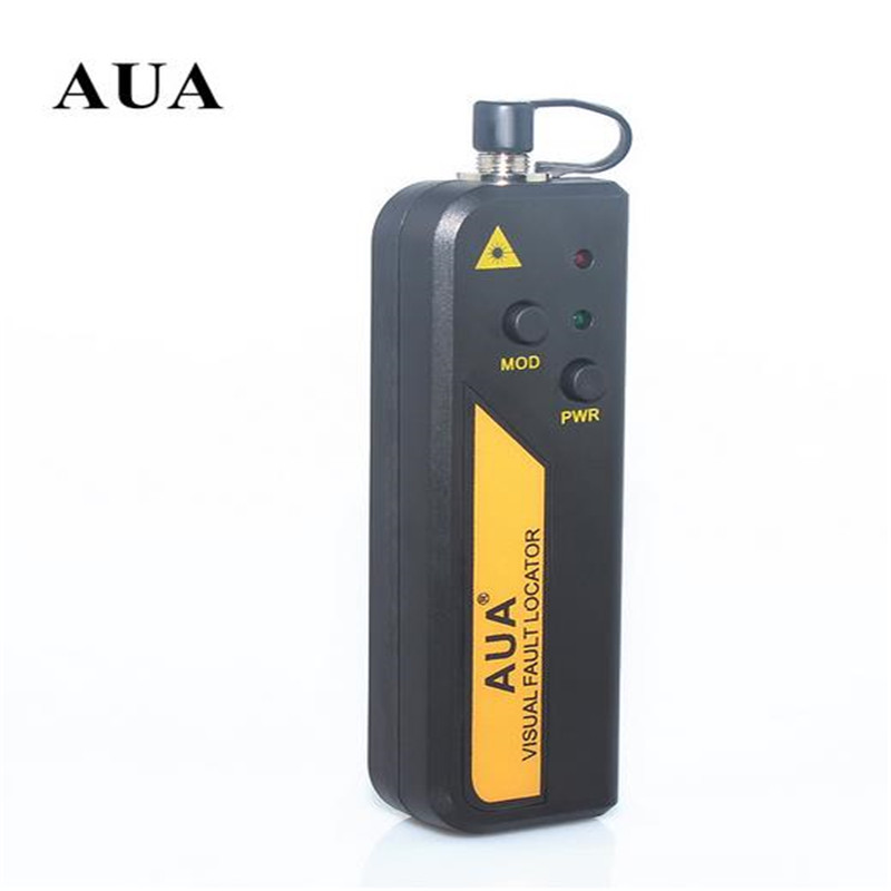 Free Shipping AUA 1mw Red Laser Light Fiber Optic Cable Tester Visual Fault Locator Checker Optical Power Meter For 1-5KM