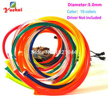 EL wire 5.0mm not Include the Inverter LED Electroluminescent Glowing Lighting for Home