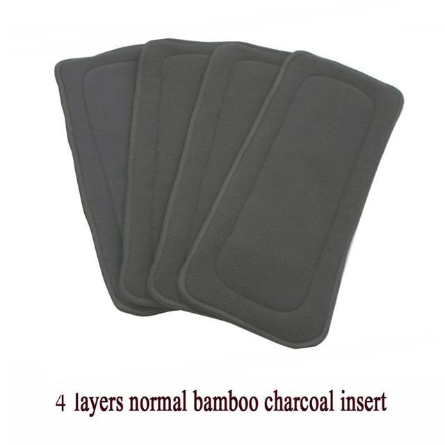 1 Pza 4 capas reutilizables bebé paño pañal Estera de bambú carbón inserto lavable pañal cambio almohadilla forros recién nacido pañales