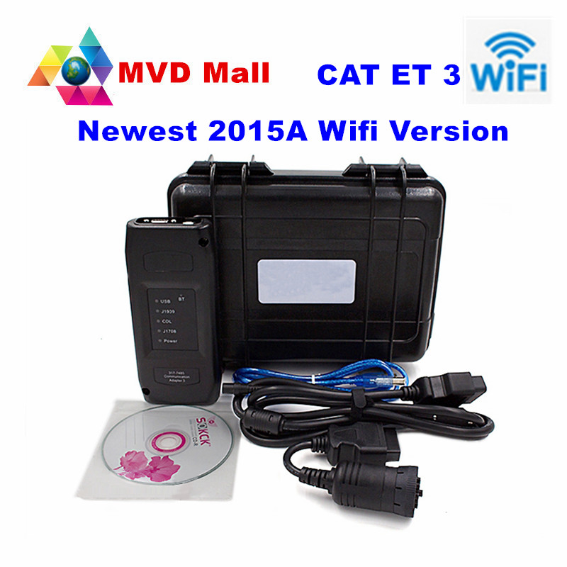 Prix pour Dernière 2015A CAT ET 3 III WIFI Communication CHAT Adaptateur 3 P/N 317-7485 CAT3 Professionnel Lourd Duty Truck Outil De Diagnostic