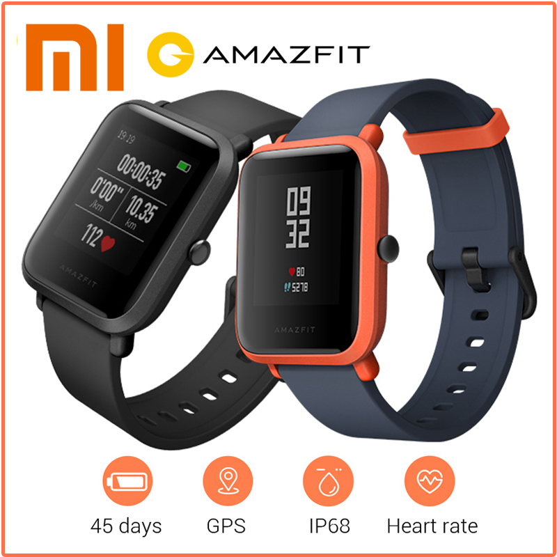 Original Xiaomi Amazfit Bip Smart Watch Huami GPS Smartwatch Android iOS Heart Rate Monitor 45 Days Standby IP68 smart watch men