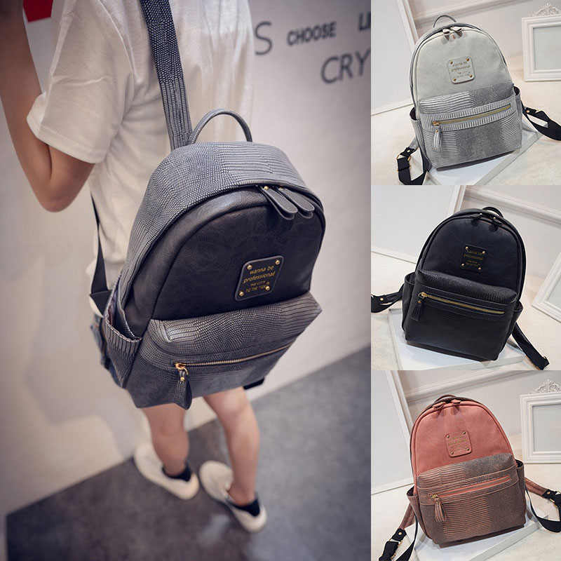 Hot Sale Vintage Casual Preppy Style Plaid School Women Serpentine Backpacks Girls New Travel Backpack 2017