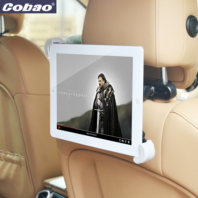 For 7/8/9 /10/11 inch 360 Degree Car Back Seat Headrest Mount Bracket Holder Support For iPad Tablet PC PDA Stand Accessories baby blue 360 degree rotary twill leather stand cover for ipad mini 2 retina ipad mini 7 8 inch tablet pc