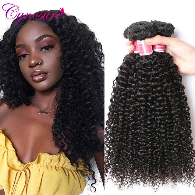 Cynosure Afro Kinky Curly Weave Human Hair Bundles 1pcs3pcs4pcs