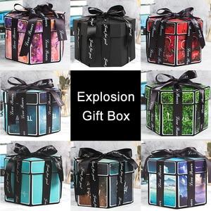 Image 4 - Boîte Explosion damour pour fête Surprise, 11 couleurs pour scrapbooking anniversaire, cadeau danniversaire, à faire soi même pour Album Photo