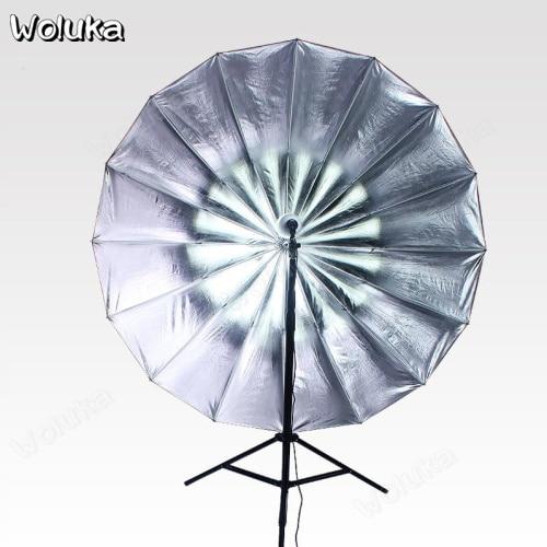 Photography Reflective Umbrella 16 Deep Mouth Parabolic Black Silver Umbrella Profoto Flashing Deep Silver Umbrella  CD50 T08