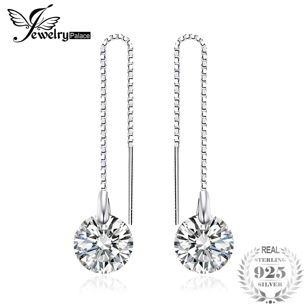 8mm 5.0ct Linked Earrings Genuine 925 Sterling Silver New For Women Fine Jewelry Birthday Present