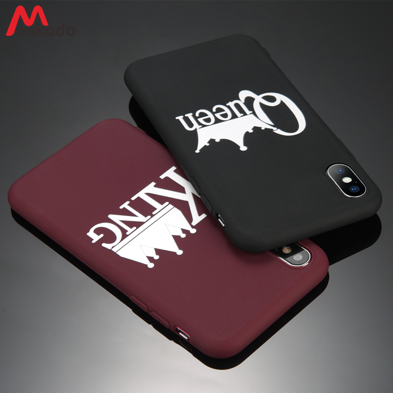 Moskado Couples Phone Case For iphone 7 XS MAX XR X For iphone 6 6s 7 8 Plus 5 5s SE KING Queen