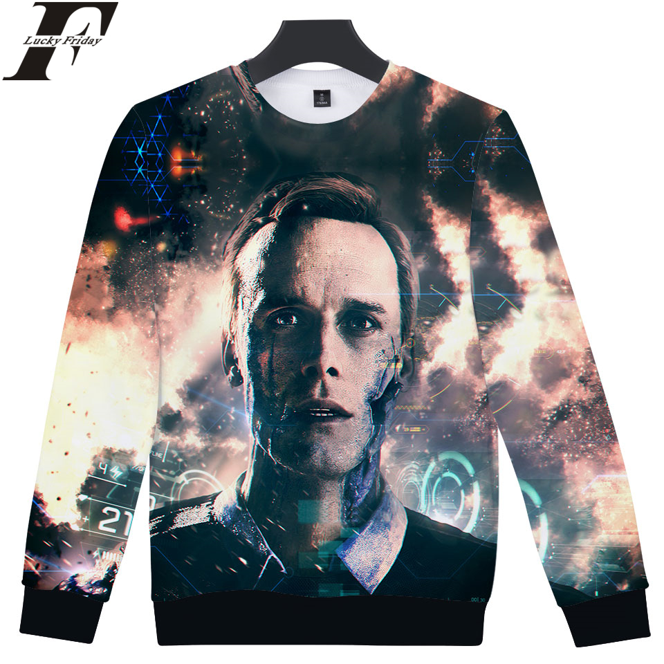 ae5802dc630 2018 Detroit Become Human 3D cotton hoodie Sweatshirt RK800 Uniform Capless  Man Women Casual streetwear Closthes Plus Size-in Hoodies   Sweatshirts  from ...