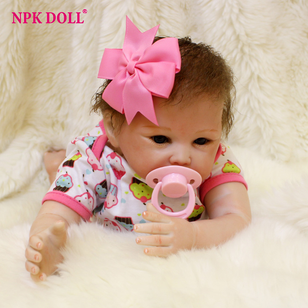 45cm Lovely high quality soft baby reborn doll Silicone cotton dolls the best birthday New Year gift for children kids toy