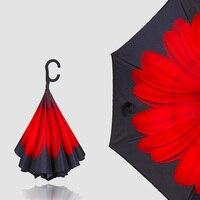 Авто Открыть обратный складной дождь, защита от солнца и автомобиль зонтик УФ и ветрозащитный Зонты для Для женщин и Для мужчин-Уникальный D ...